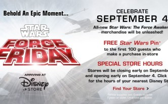 Star Wars Force Friday at Disney Store