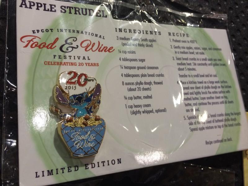 Stitch Apple Strudel Disney Pin 2015