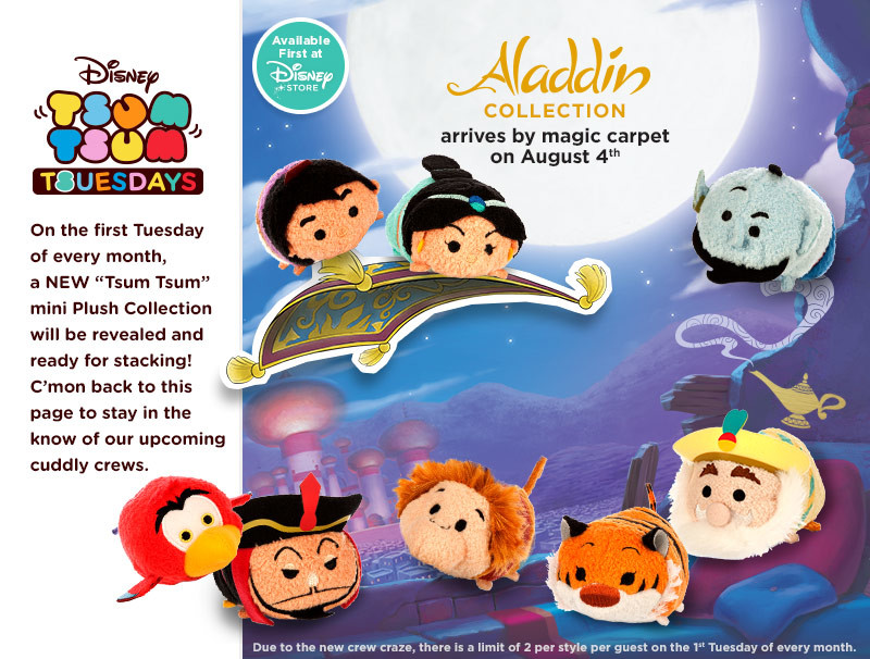 Tsum Tsum Aladdin Collection