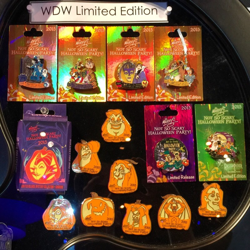 2015 Mickey's Not So Scary Halloween Party Pins - Disney