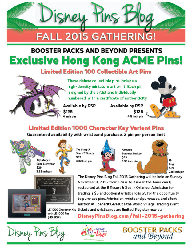 Disney Pins Blog Fall 2015 Gathering Pin Releases