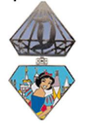Disneyland Diamond Passholder Snow White Pin