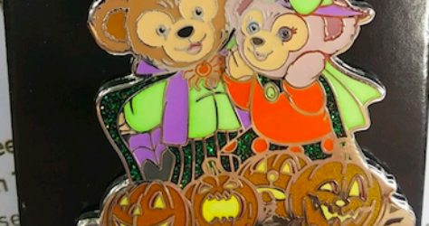 Duffy and Shellie May Halloween Pin - Hong Kong Disneyland