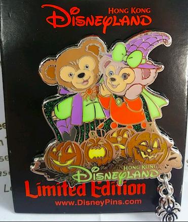 Duffy and Shellie May Halloween Pin - Hong Kong Disneyland