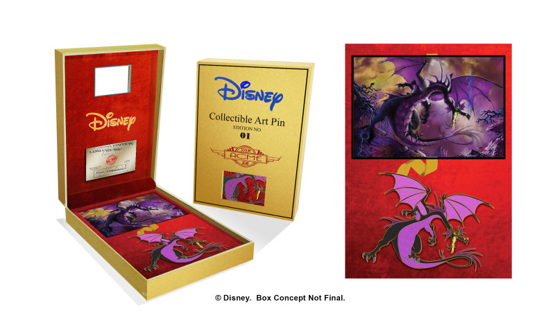 Maleficent Gold Boxed Disney Pin