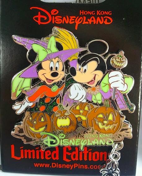 Mickey and Minnie Halloween Pin - Hong Kong Disneyland