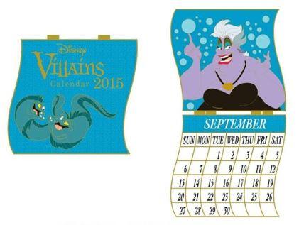 September 2015 Ursula Calendar Disney Pin