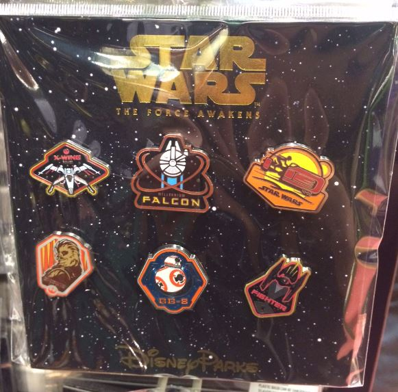 Star Wars The Force Awakens Booster Pin Pack