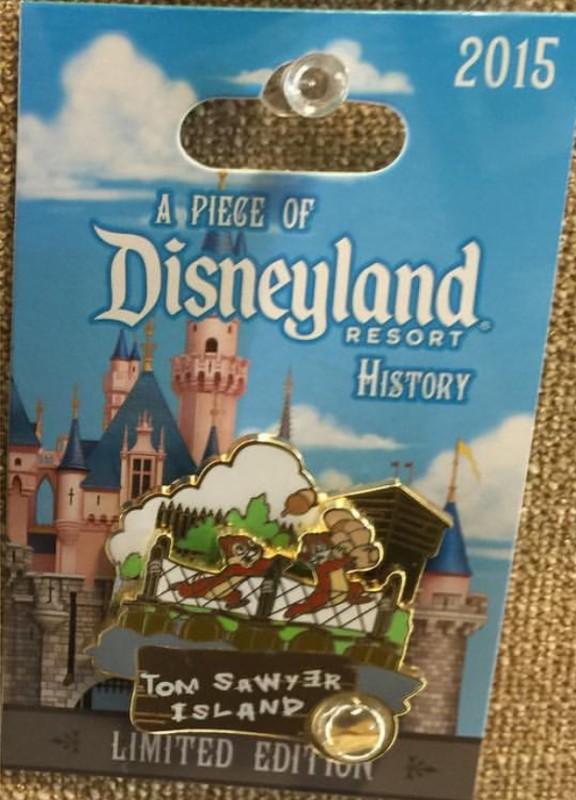 Tom Sawyer Island Piece of Disneyland History Pin 2015