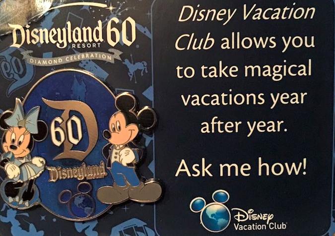 Disney Vacation Club Disneyland 60th Pin