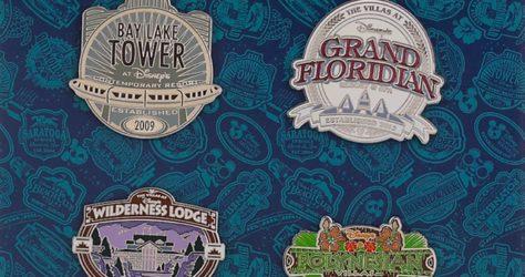 Disney Vacation Club Magic Kingdom Resort Pin Set 2015