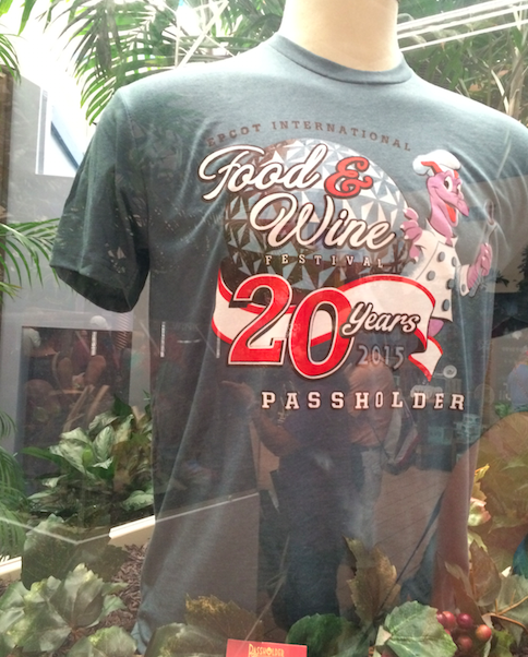 Epcot 20th Anniversary Food Wine Passholder Shirt