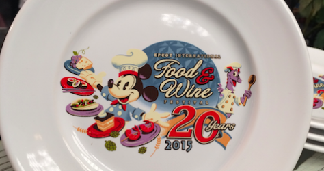 Epcot Food WIne Festival Character Plates 2015