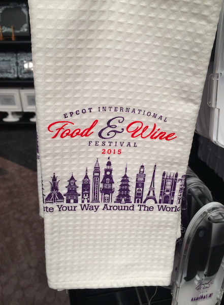 Epcot Food Wine Festival Kitchen Towel 2015