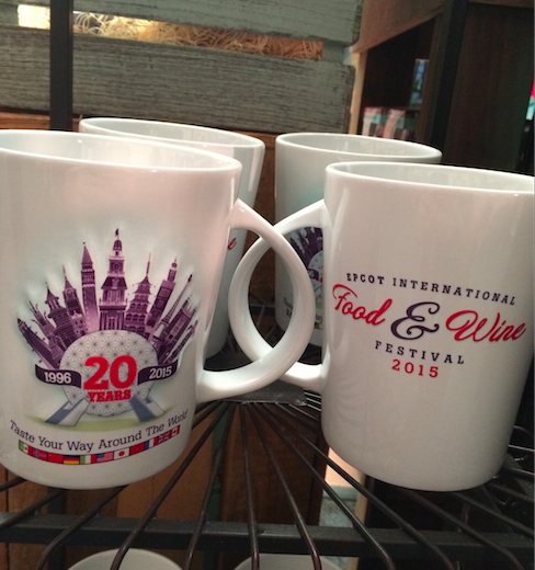 Epcot Food & Wine 20 Years Mug