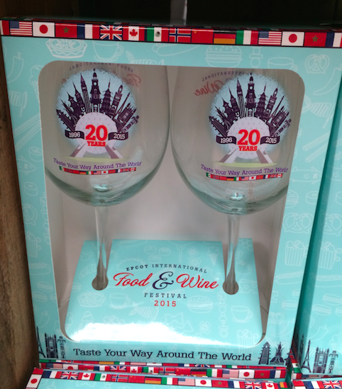 Epcot Food & Wine 20 Years Wine Glasses