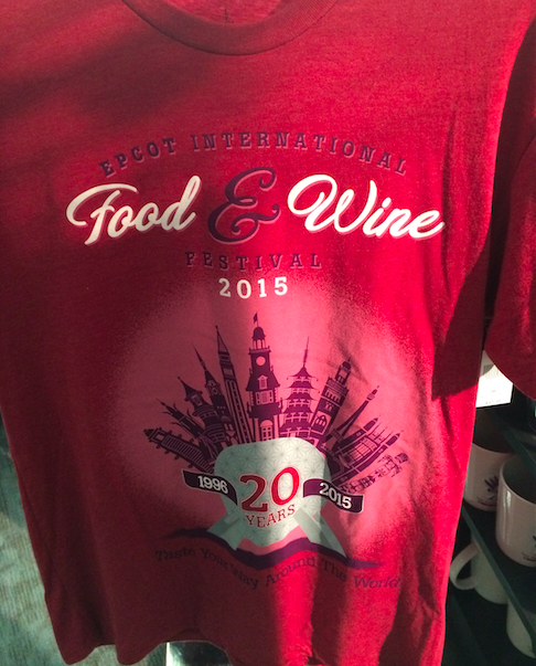 Epcot Food Wine Festival 2015 Red Shirt