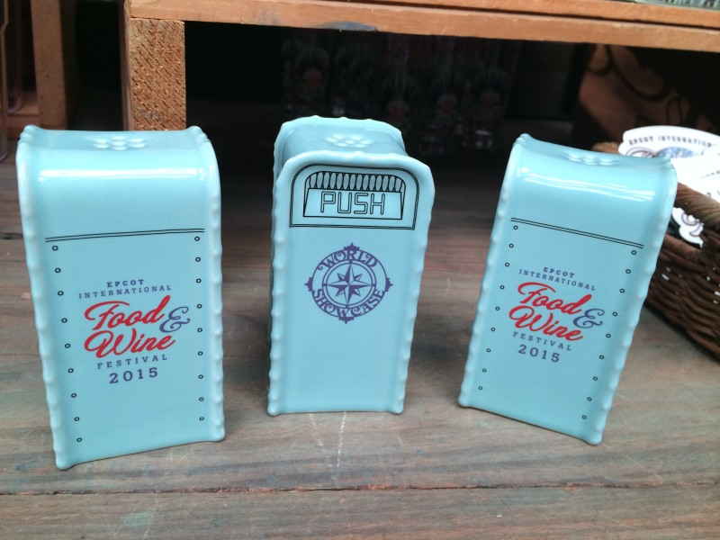 Epcot Food Wine Salt and Pepper Shakers