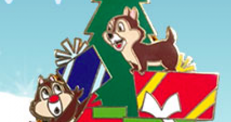 Chip and Dale Christmas PIn 2015 - Disney Store UK