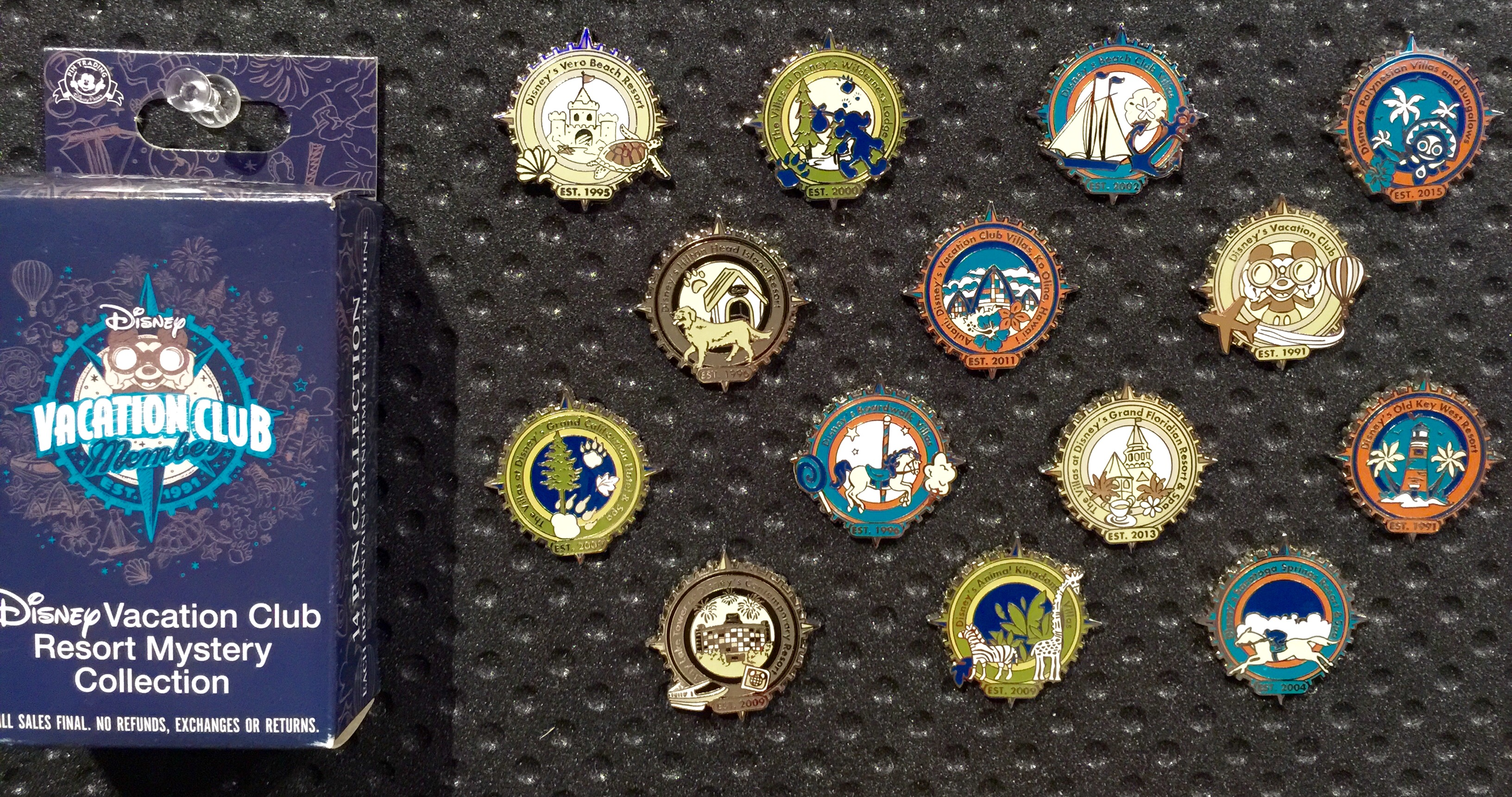 DVC Resort Mystery Pin Collection - Disney Pins Blog