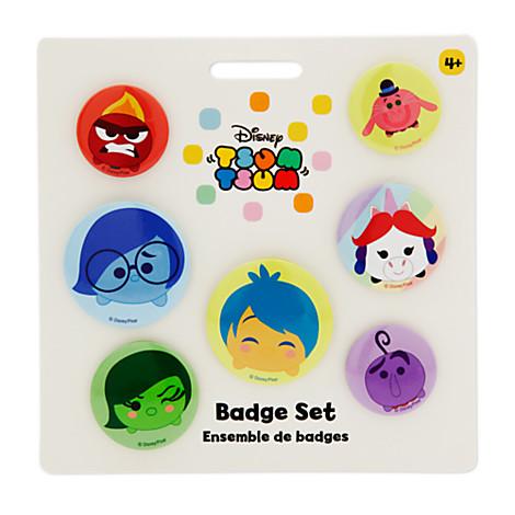Disney Pixar Inside Out Tsum Tsum Badge Set
