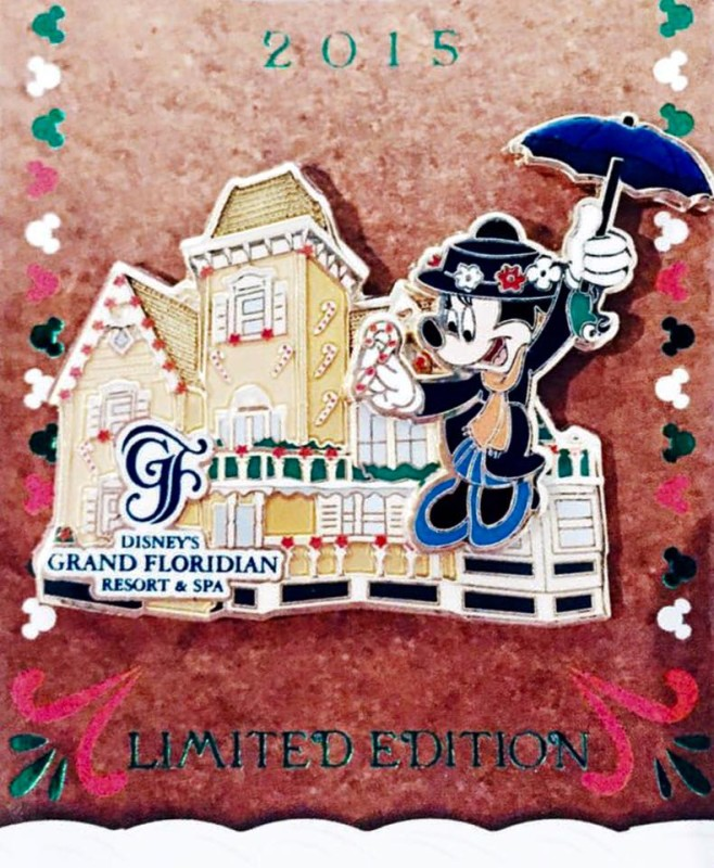 Grand Floridian Gingerbread House Pin 2015