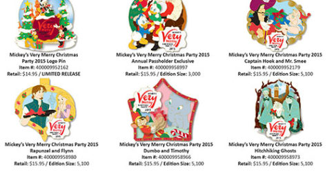 mickeys very merry christmas party 2015 pins - Disney Christmas Party 2015
