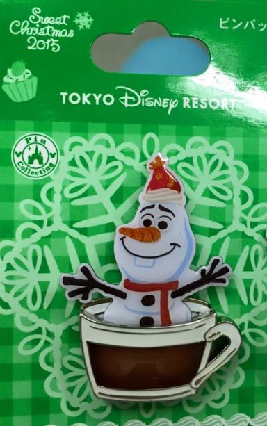 tokyo disney resort olaf christmas pin - Disney Christmas 2015