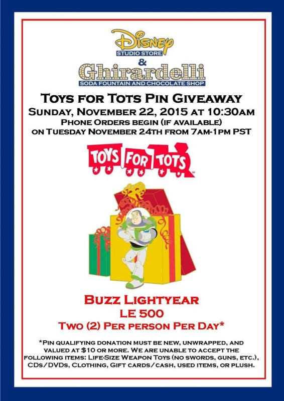 Toys for Tots Buzz Lightyear Pin