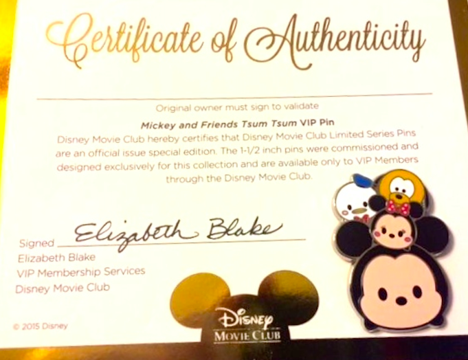 Tsum Tsum Disney Movie Club Pin