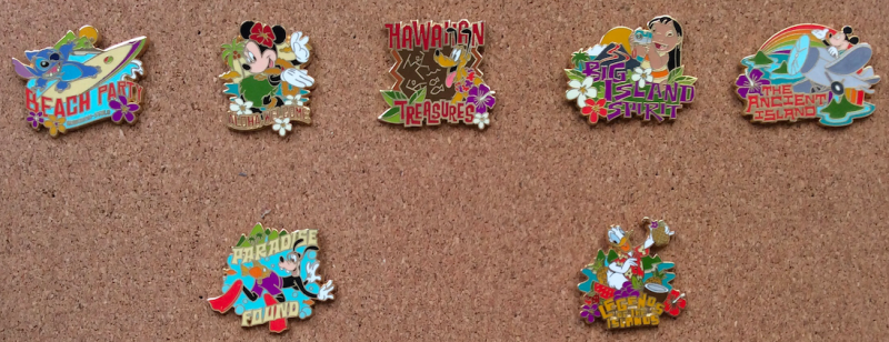 Adventures by Disney Hawaii 2005 Pins