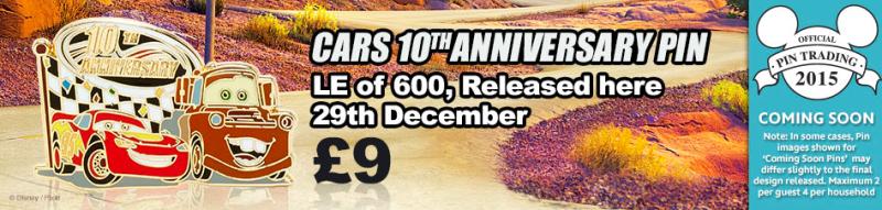 Cars 10th Anniversary Pin - Disney Store UK