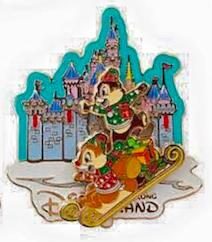 Christmas Chip and Dale Pin 2015 - Hong Kong Disneyland