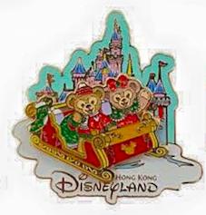 Christmas Duffy and Shellie May Pin 2015 - Hong Kong Disneyland