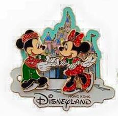 Christmas Mickey and Minnie Pin 2015 - Hong Kong Disneyland