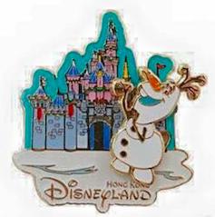 Christmas Olaf Pin 2015 - Hong Kong Disneyland