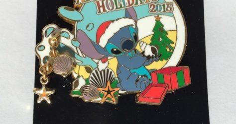 Disney Parks Holiday Stitch Cast Member Pin 2015