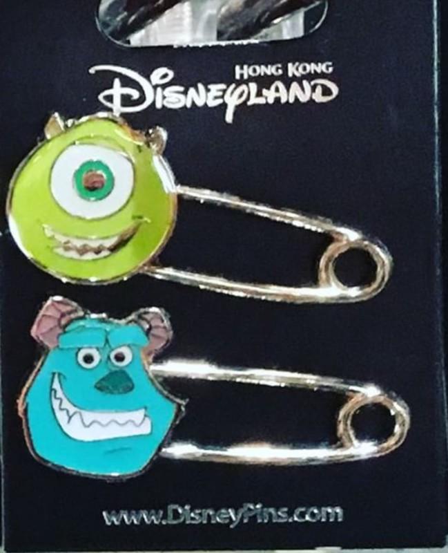 Monsters Inc Safety Pins - Hong Kong Disneyland