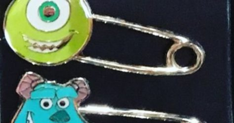 Monsters Inc Safety Pins - Hong Kong Disneyland