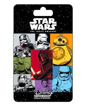 Star Wars The Force Awakens Character Block Pin