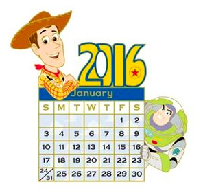 Toy Story Happy New Year Pin 2016 DSSH