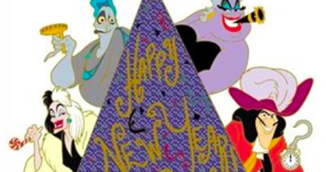Villains Happy New Year Pin 2016 DSSH