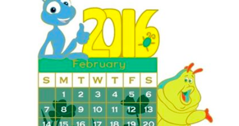 A Bug's Life February 2016 Calendar Pin