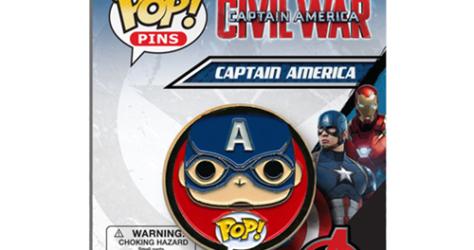 Civil War Captain America Pop! Pin