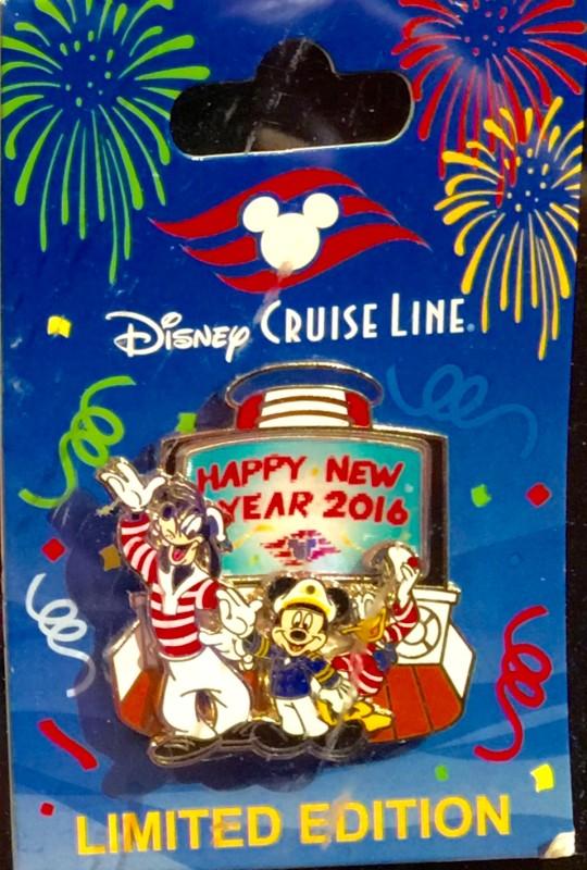 Disney Cruise Line New Year 2016 Pin