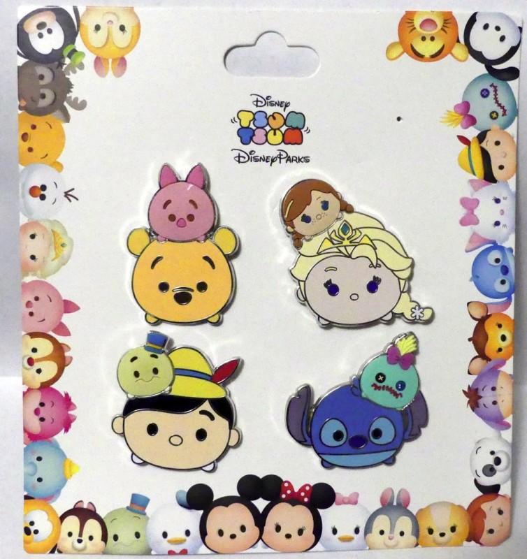 Disney Parks Tsum Tsum Booster Pin Set