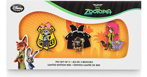 Disney Zootopia Pin Set