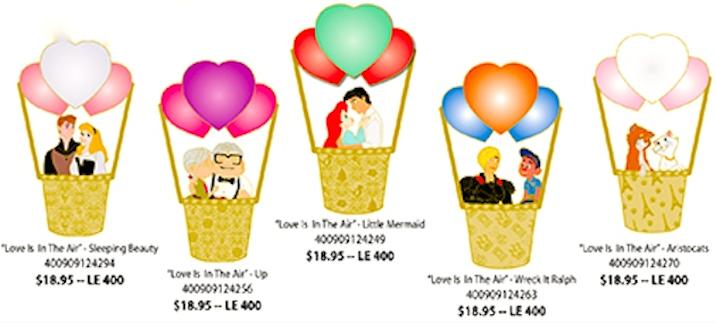 Hot Air Ballon Pins - Disney Studio Store Hollywood