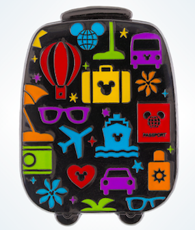 Mickey Suitcase Disney Pin