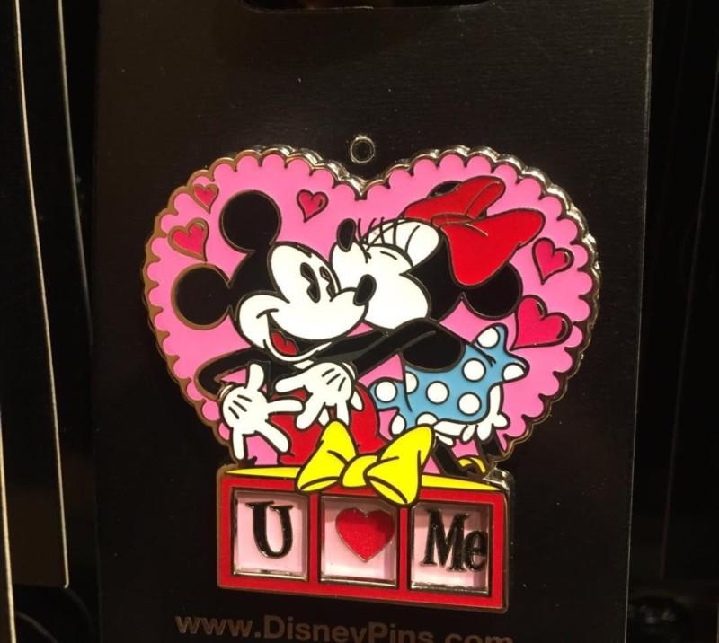 Mickey and Minnie U Love Me Pin 2016